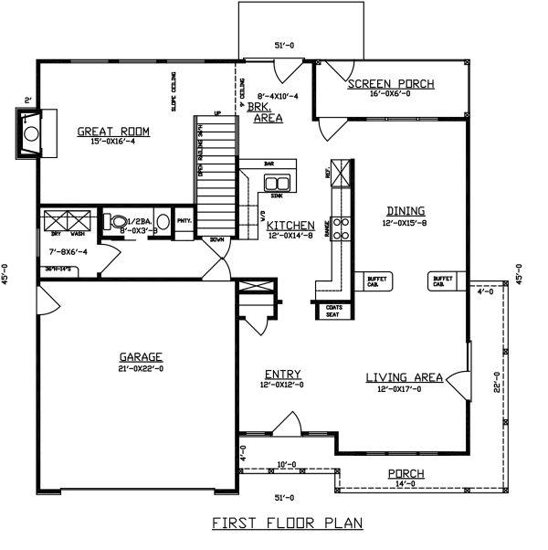 Dream House Plan - Traditional Floor Plan - Main Floor Plan #405-341