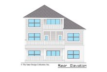 Country Exterior - Rear Elevation Plan #930-495