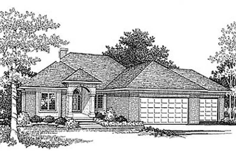 Traditional Exterior - Front Elevation Plan #70-270 - Houseplans.com