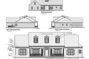 Southern Style House Plan - 4 Beds 3 Baths 1992 Sq/Ft Plan #56-152 Exterior - Rear Elevation