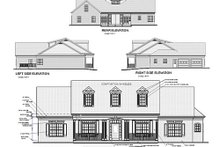Architectural House Design - Southern Exterior - Rear Elevation Plan #56-152