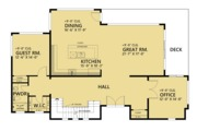 Contemporary Style House Plan - 4 Beds 5 Baths 4258 Sq/Ft Plan #1066-44 Floor Plan - Main Floor Plan