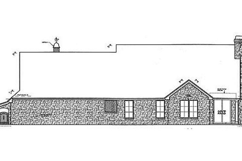Colonial Exterior - Rear Elevation Plan #310-693 - Houseplans.com