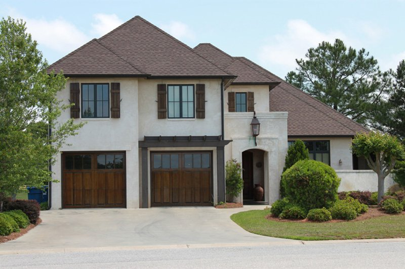 European Style House Plan - 4 Beds 4.5 Baths 3784 Sq/Ft Plan #430-112 Exterior - Front Elevation