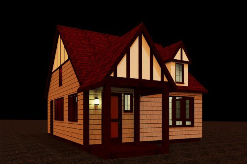 Craftsman Style House Plan - 1 Beds 1 Baths 484 Sq/Ft Plan #917-35 Exterior - Front Elevation