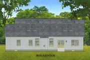 Ranch Style House Plan - 3 Beds 2 Baths 1690 Sq/Ft Plan #1010-218 Exterior - Rear Elevation