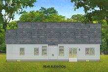 Ranch Exterior - Rear Elevation Plan #1010-218