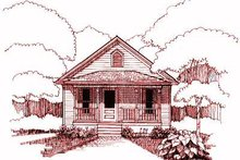 Cottage Exterior - Front Elevation Plan #79-107