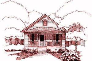 Cottage Exterior - Front Elevation Plan #79-107