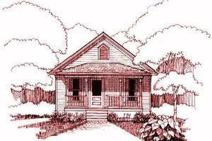 Dream House Plan - Cottage Exterior - Front Elevation Plan #79-107