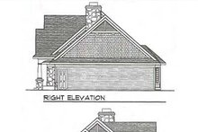 Home Plan - Traditional Exterior - Rear Elevation Plan #70-643