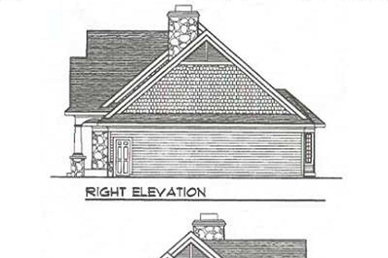 Traditional Exterior - Rear Elevation Plan #70-643 - Houseplans.com