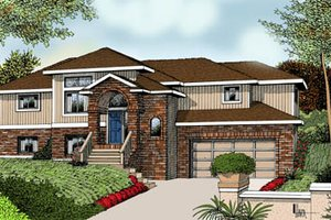 Traditional Exterior - Front Elevation Plan #100-217