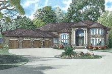 House Plan Design - European Exterior - Front Elevation Plan #17-2572