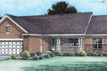 Traditional Exterior - Front Elevation Plan #20-1799