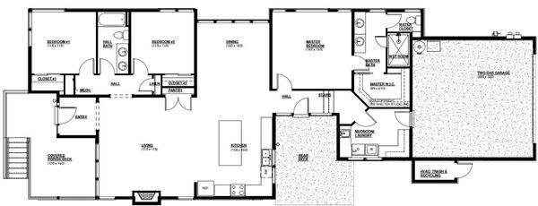 House Plan Design - Modern Floor Plan - Main Floor Plan #895-110