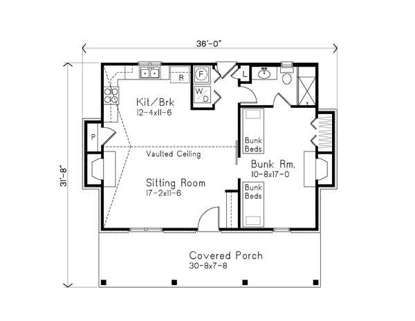 Dream House Plan - Cabin Floor Plan - Main Floor Plan #22-617