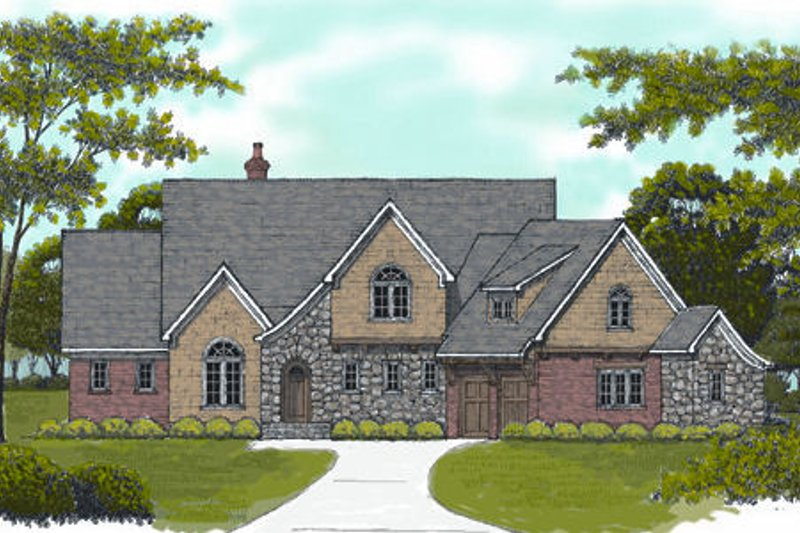 European Exterior - Front Elevation Plan #413-824