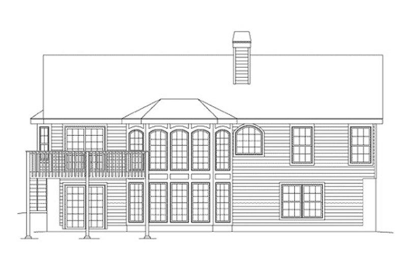 Traditional Exterior - Rear Elevation Plan #57-271 - Houseplans.com
