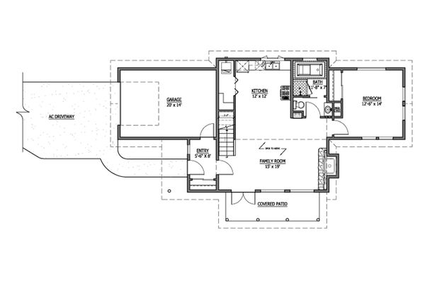 Craftsman Floor Plan - Main Floor Plan Plan #899-5