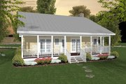 Country Style House Plan - 2 Beds 1.5 Baths 953 Sq/Ft Plan #56-559 Exterior - Rear Elevation