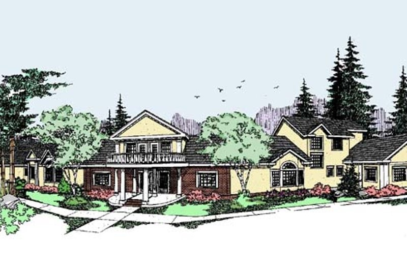Traditional Exterior - Front Elevation Plan #60-519 - Houseplans.com