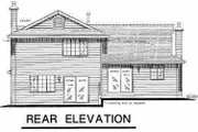 European Style House Plan - 3 Beds 2.5 Baths 1921 Sq/Ft Plan #18-233 Exterior - Rear Elevation