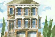 Beach Style House Plan - 3 Beds 2.5 Baths 2342 Sq/Ft Plan #26-238 Exterior - Front Elevation