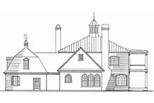 Classical Exterior - Rear Elevation Plan #137-222