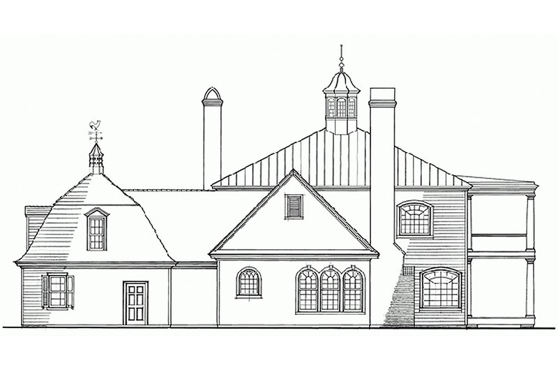 Classical Exterior - Rear Elevation Plan #137-222 - Houseplans.com