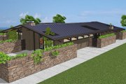 Ranch Style House Plan - 3 Beds 3 Baths 2787 Sq/Ft Plan #544-1 Exterior - Front Elevation