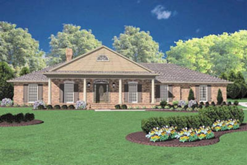 Southern Exterior - Front Elevation Plan #36-192 - Houseplans.com