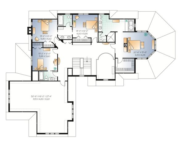 Country Floor Plan - Upper Floor Plan Plan #23-414
