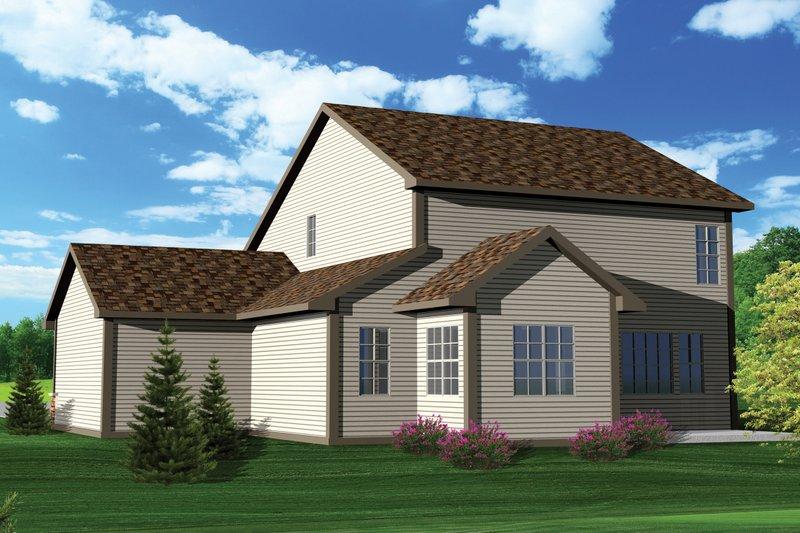 Craftsman Exterior - Rear Elevation Plan #70-1049 - Houseplans.com
