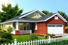Craftsman Exterior - Front Elevation Plan #513-2106