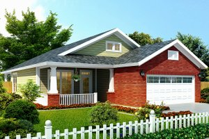 Architectural House Design - Craftsman Exterior - Front Elevation Plan #513-2106