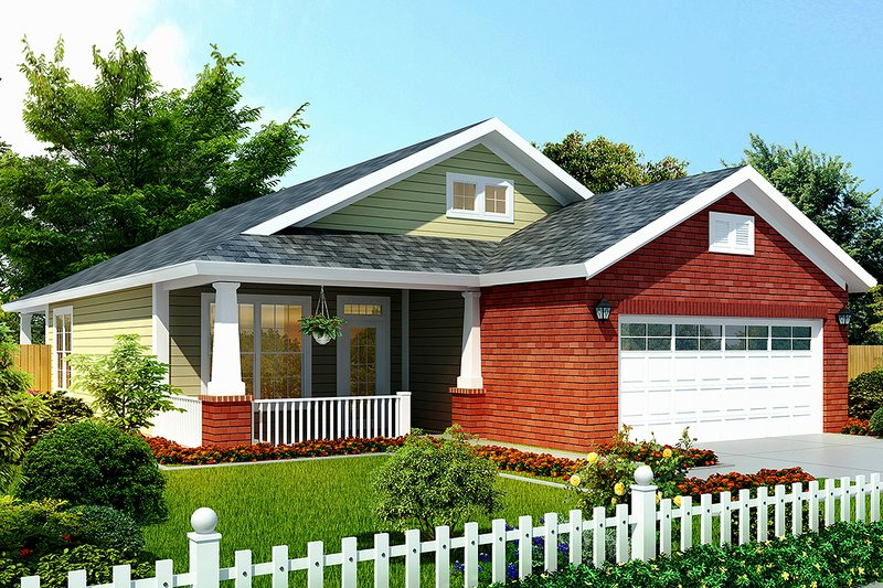 Home Plan - Craftsman Exterior - Front Elevation Plan #513-2106