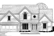 Traditional Style House Plan - 4 Beds 4 Baths 2637 Sq/Ft Plan #67-134 Exterior - Front Elevation