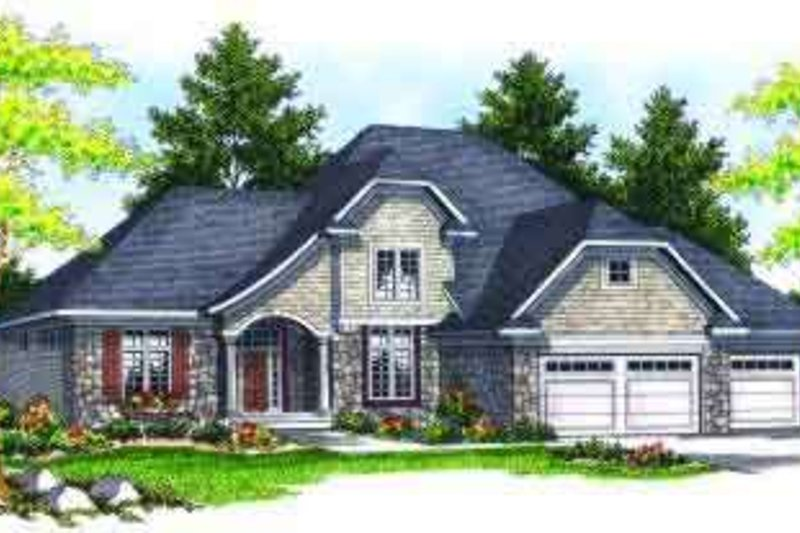 Colonial Exterior - Front Elevation Plan #70-622