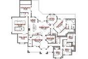 Mediterranean Style House Plan - 4 Beds 3.5 Baths 3023 Sq/Ft Plan #63-325 Floor Plan - Main Floor Plan