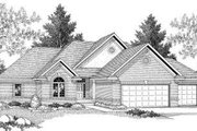 Bungalow Style House Plan - 2 Beds 2 Baths 1723 Sq/Ft Plan #70-582 Exterior - Front Elevation