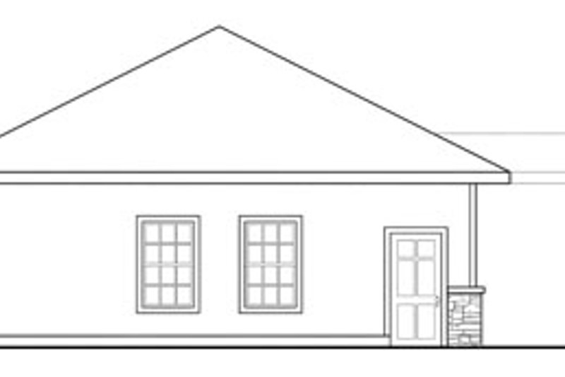 Ranch Exterior - Other Elevation Plan #124-636 - Houseplans.com
