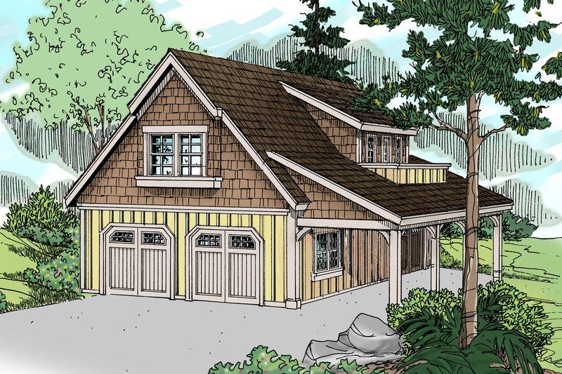 Craftsman Exterior - Front Elevation Plan #124-934