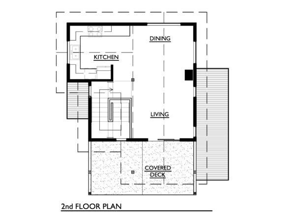 Cottage Floor Plan - Upper Floor Plan #890-3