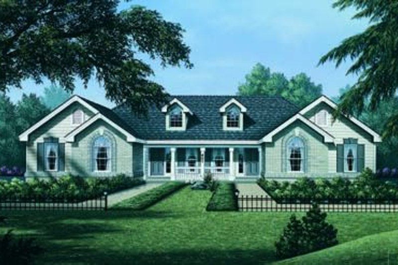 Dream House Plan - Traditional Exterior - Front Elevation Plan #57-141