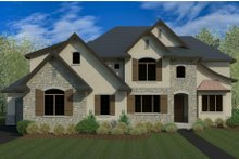 European Exterior - Front Elevation Plan #920-115