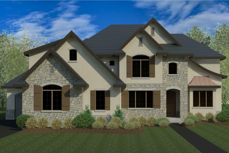 Home Plan - European Exterior - Front Elevation Plan #920-115