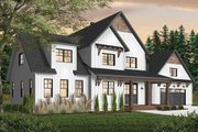 Farmhouse Style House Plan - 4 Beds 3.5 Baths 3532 Sq/Ft Plan #23-2687 Exterior - Front Elevation