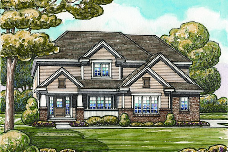Traditional Exterior - Front Elevation Plan #20-2076