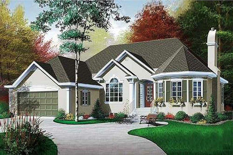Home Plan - European Exterior - Front Elevation Plan #23-130